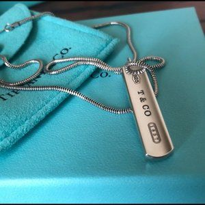 Jewelry - Tiffany & Co Sterling Silver 1837 Bar Pendant
